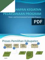 Tahapan Kegiatan Pelaksanaan Program - Water, Sanitation and Hygiene (WES) Project