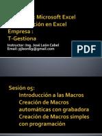 Sesion05- Macros en Excel