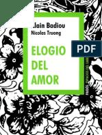 BADIOU, Alain - Elogio Del Amor [PDF]