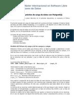 Ejemplo Carga de Datos PostgreSQL