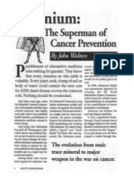 selenium    the superman of cancer prevention