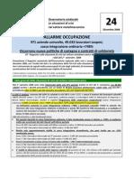 Osservatorio Sindacale 24 ° Rapporto crisi settore metalmeccanico Lombardia - Secondo semestre 2008