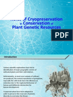 Roles of Cryopreservation in Conservation of Plant Genetic Resources - Presentation