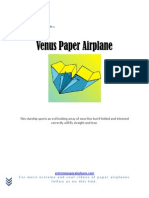 The Best Venus Paper Airplane