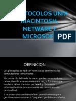 Protocolos Unix Macintosh, Netware y Microsoft