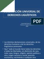 DECLARACIÓN UNIVERSAL DE DERECHOS LIGUÍSTICOS