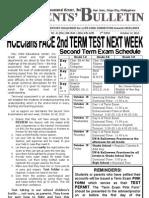 Parents Bulletin # 15, s. 2012
