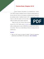 Practice Exam Chapter 16-18
