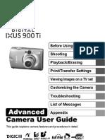 Canon IXUS 900 TI User Manual