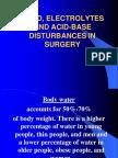 Fluid, Electrolytes and Acid-base Disturbances