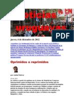 Noticias Uruguayas Jueves 6 de Diciembre Del 2012