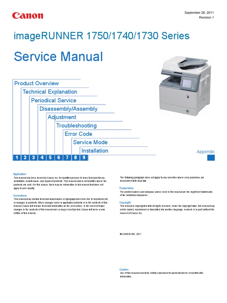 canon ir1730 40 50 service manaul electrical connector image scanner rh es scribd com Canon Printer Drivers for Windows 7 canon ir2020 service manual pdf