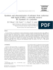 Synthesis and Characterization of Polymers From Cashewnut