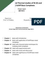 Synthesis, IR and Thermal Studies of Ni 2