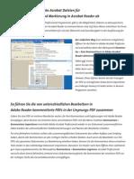 PDF-Dokumente Kommentarfunktion Einschalten Deutsch