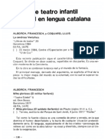 Obras de Teatro Infantil y Juvenil en Lengua Catalana
