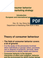 MBA Introduction Lecture on Consumer Behavior Text