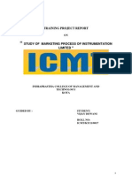Project Report on Marketing Process of I.L. Kota