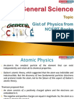 Gist of Physics From NCERT Books