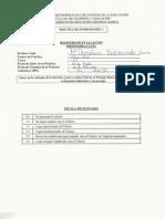 Evaluación Práctica de Intervención I - Colegio Chile, 2012