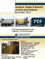Portable Generators, Diesel and Natural Gas Generators and Engines - December 2012