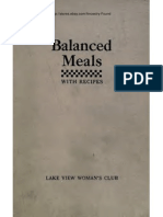 Balanced Meals With Recipes Food Values, Drying and Cold Pack Canning 1917