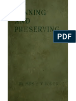 Canning and Preserving 1887