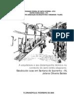 MESTRADO - A arquitetura e seu desempenho térmico no contexto do semi-árido alagoano