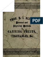 Methods of Canning Fruits and Vegetables by Hot Air and Steam 1890