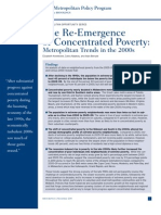The Re-Emergence of Concentrated Poverty