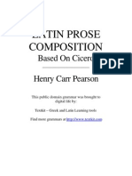 Pearson, Henry - Latin Prose Composition