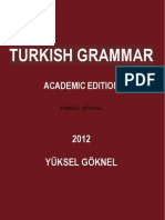 TURKISH GRAMMAR UPDATED ACADEMIC EDITION YÜKSEL GÖKNEL OCTOBER 2012-signed