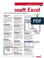 Excel Short Cuts