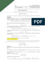 Examen Final Cálculo III, 5 de diciembre 2012