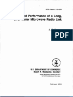 NTIA Report 90-256 - Design and Performance of a Long, Over-Water Microwave Radio Link J. E. Farrow, February 1990.