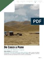 De Cusco a Puno, la ruta de Manco Capac