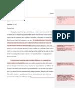 Defense Essay Comments