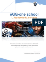 Dossier de presse - eGG-one school
