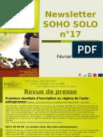 Newsletter Soho Solo n17 Fevrier09