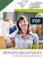 AILS séjours linguistiques | Brochure Etudiants & Adultes 2013