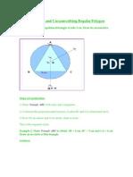 Inscribing and Circumscribing Regular Polygon