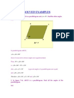 Examples for Parallelogram