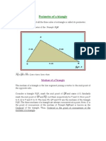 Perimeter, Median and Altitude of Triangle