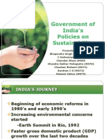 Government of India's Policies on Sustainability