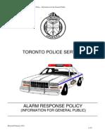 2012 TPS Alarm Response Police