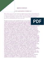 Las dualidades cósmicas René Guénon