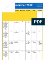 Oakmont Methodist Church Dec Calendar