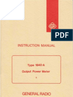 General Radio Type 1840-A Output Power Meter ~ Instruction Manual (1840-0100-G), 11-1972.