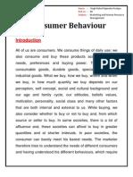 Consumer Bhaviour Mhrm Project 123
