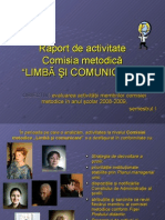 Raport semestrial Gianina